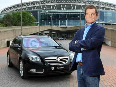 Fabio Capello With The Vauxhall Insignia Sports Tourer
