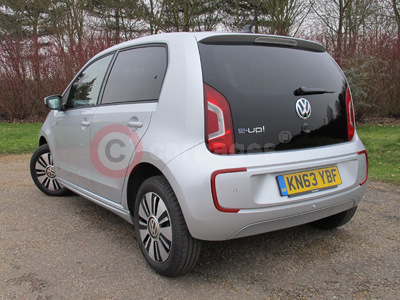 Volkswagen e-up! (Rear Side View) (2014)