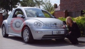 Sally Lindsay (Shelley Unwin In Coronation Street) Takes Delivery Of Her VW Beetle