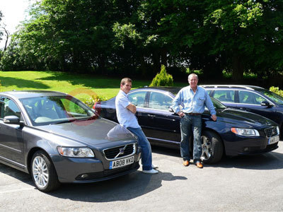 John Nettles and Jason Hughes With The Volvo S40 and S80